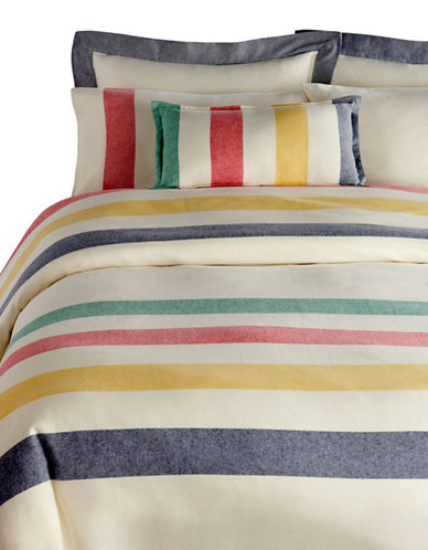 HudsonS Bay Company Flannel Bedding - Shams-MULTI-STRIPE-Standard