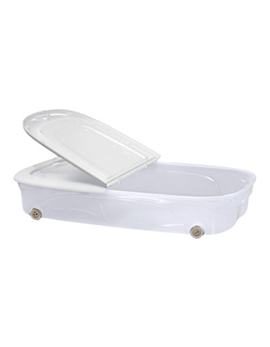 Essential Needs 53L Underbed Box with Wheels-WHITE-One Size