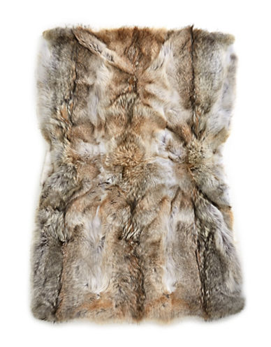 HudsonS Bay Company X Caroline Furs Coyote Fur Throw-NATURAL-One Size