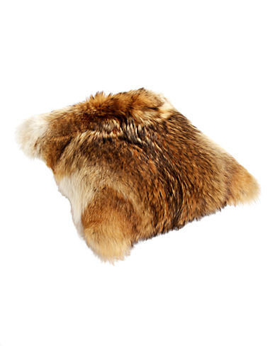 HudsonS Bay Company X Caroline Furs Coyote Fur Cushion-NATURAL-One Size