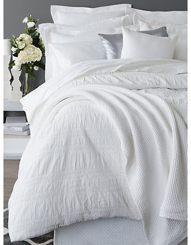 Distinctly Home Romantique Cotton Duvet Cover-WHITE-Twin