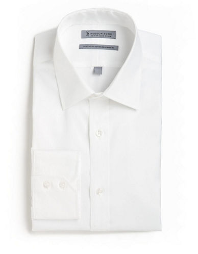 Hudson Room Slim Fit Long Sleeved Shirt-WHITE-18-37