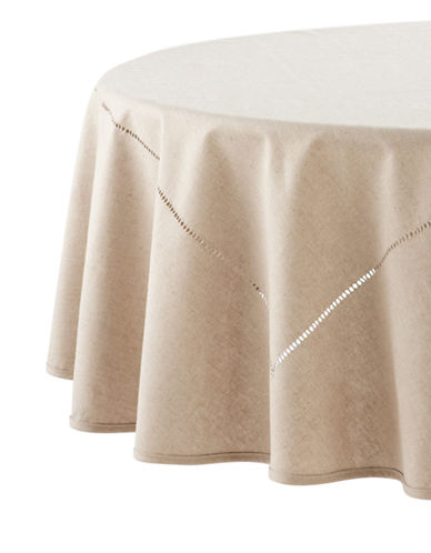 Distinctly Home Round Table Cloth-NATURAL-One Size