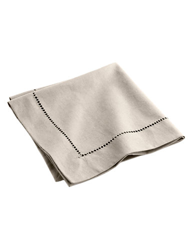 Distinctly Home Hemstitched Napkin-NATURAL-One Size