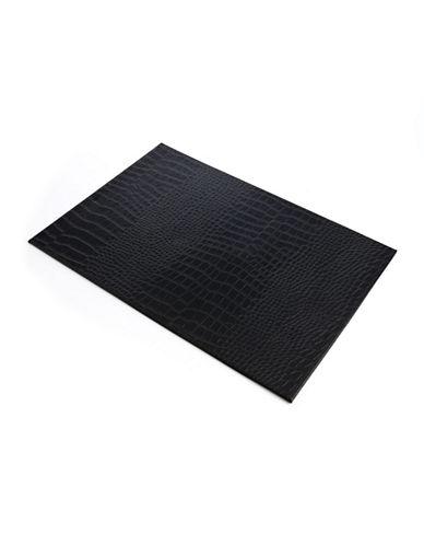 Glucksteinhome Crocodile Print Rectangular Placemat-BLACK-One Size