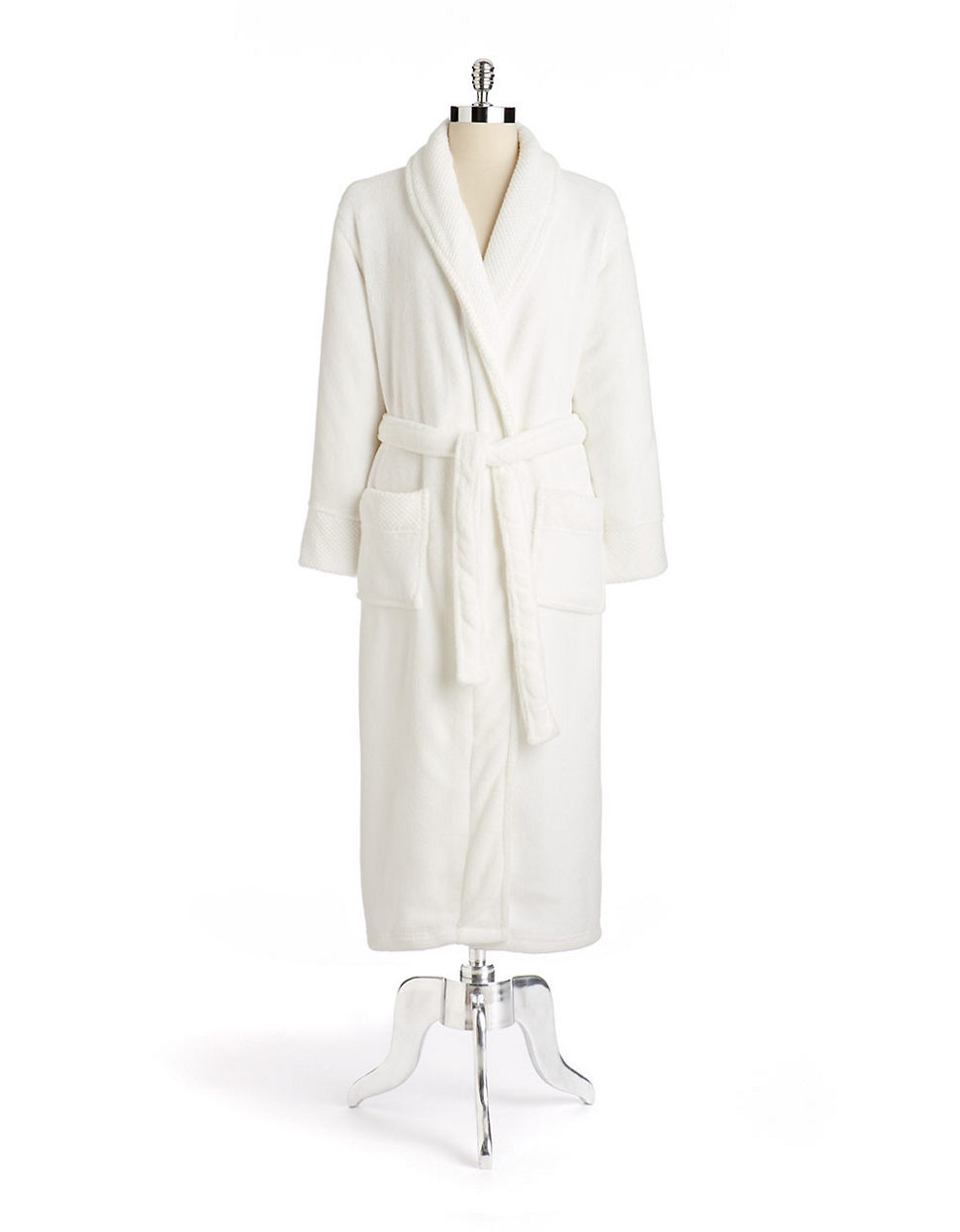 La lingerie Textured Plush Robe white XLarge