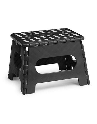 Essential Needs Folding Step Stool-BLACK-One Size