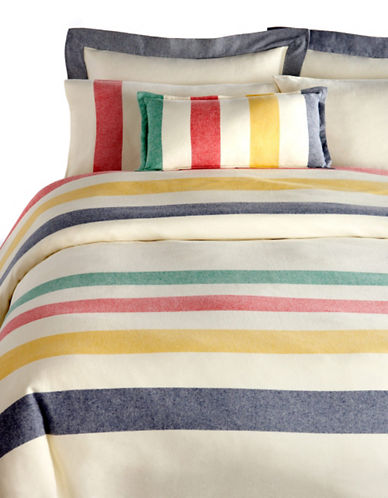 HudsonS Bay Company 100% Cotton Percale Bedding-Sheet Set-MULTISTRIPE-Twin