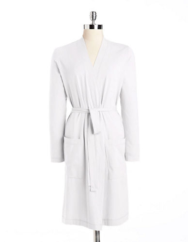 Hudson north Solid Knit Robe white Small