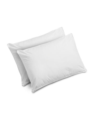 Essential Needs Pack of Two Polyester Fibre Filled All Sleep Type Pillows-WHITE-Standard