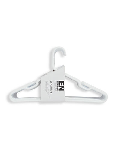 Essential Needs 20-Pack Heavy Duty Hangers-WHITE-One Size