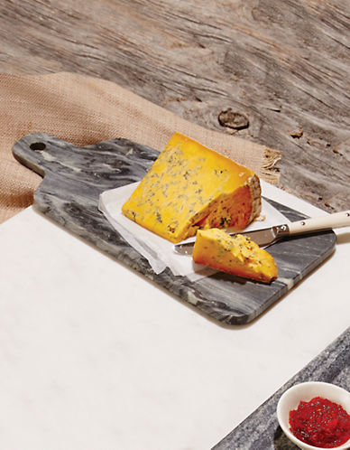 Distinctly Home Marble Cheese Paddle Board-GREY-One Size
