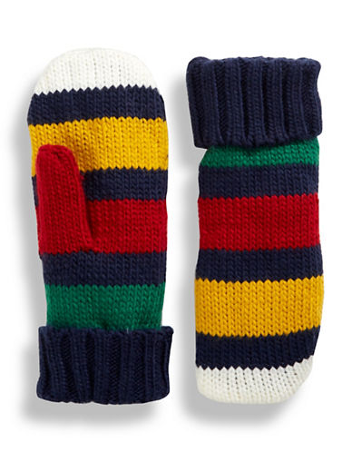 HudsonS Bay Company The Stripes Mittens - Multi Stripe-NAVY MULTISTRIPE-Large/X-Large