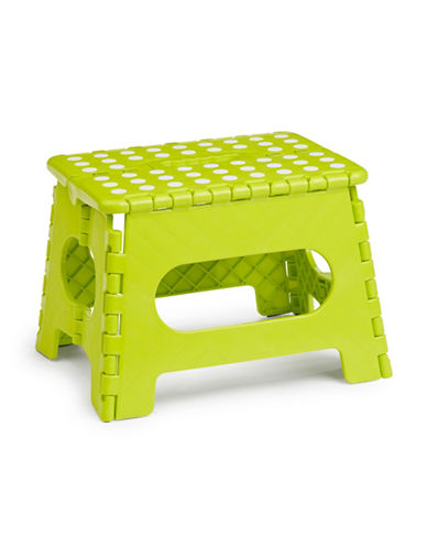 Essential Needs Folding Step Stool-GREEN-One Size