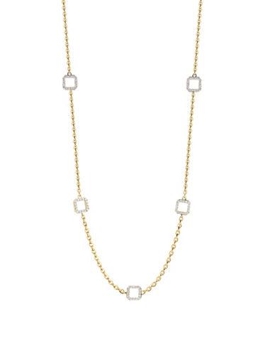 Ivanka Trump Metropolis Necklace. 18kt Yellow Gold-DIAMOND-One Size