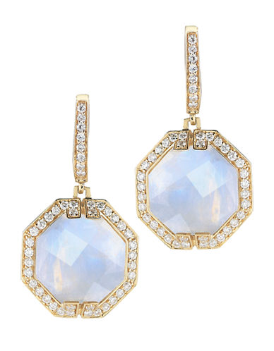 Ivanka Trump Patras Earrings 18kt Yellow Gold-MOONSTONE-One Size