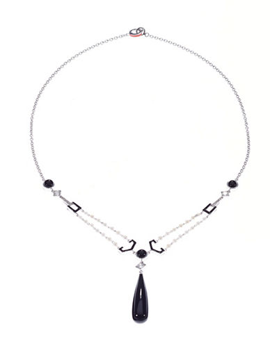 Ivanka Trump Black and White Necklace-PEARL-One Size