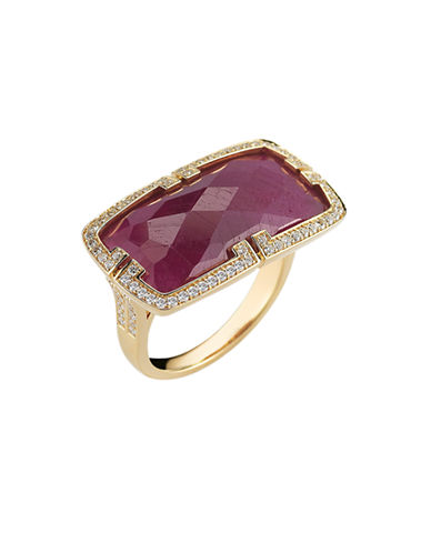 Ivanka Trump Patras Ring 18kt Yellow Gold-RUBY-7