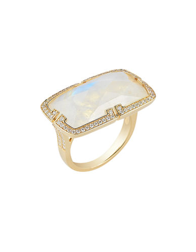 Ivanka Trump Patras Ring 18kt Yellow Gold-MOONSTONE-6.5