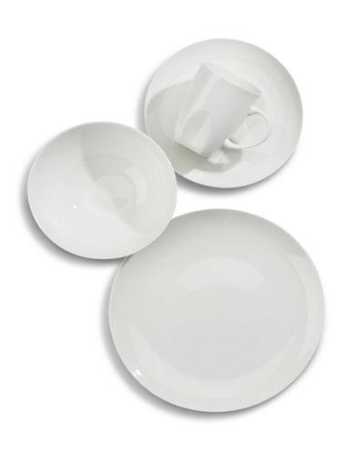 Glucksteinhome 16-Piece Quincy Coupe Bone China Dinnerware Set-WHITE-One Size