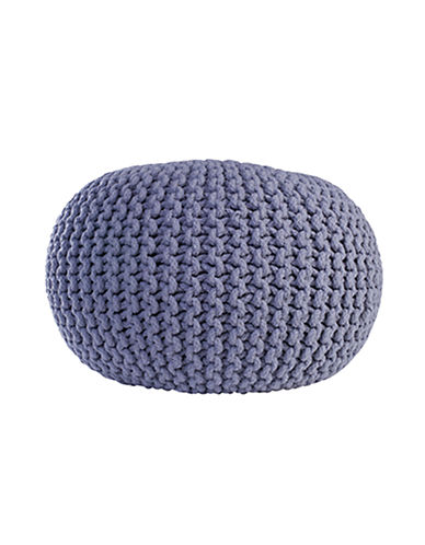 EQ3 Accent Pouf Ottoman charcoal