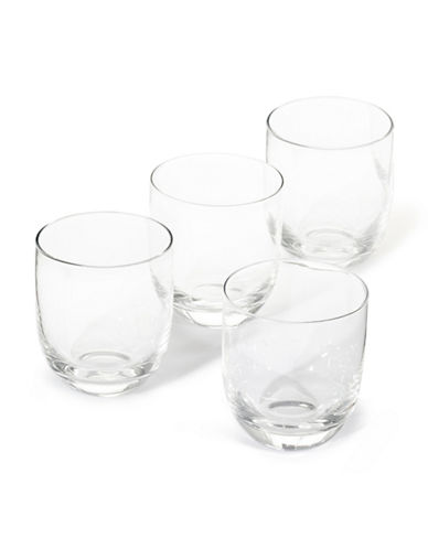 Distinctly Home Set of 4 Double Old Fashioned Glasses-CLEAR-One Size