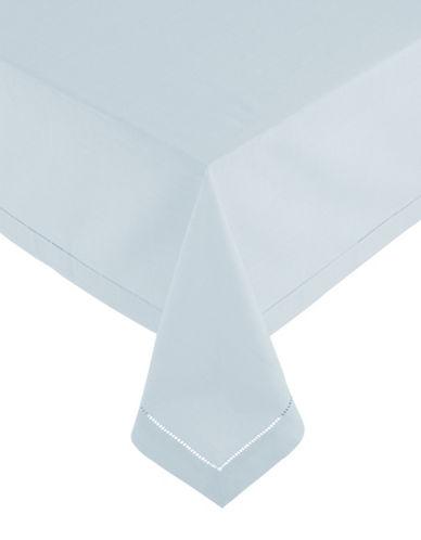 Glucksteinhome Monroe Hemstitched Oblong Tablecloth-BLUE-60x120