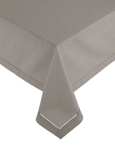 Glucksteinhome Monroe Hemstitched Oblong Tablecloth-TAUPE-60x120
