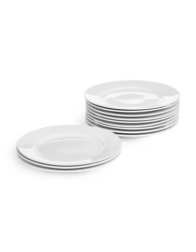 Glucksteinhome Catering Set of 12 Salad Plates-WHITE-One Size