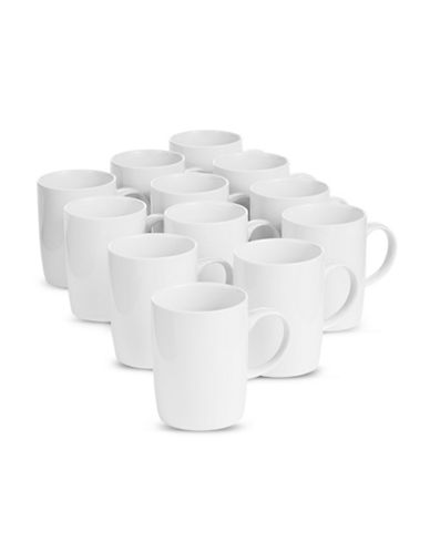 Glucksteinhome Catering Set of 12 Mugs-WHITE-One Size