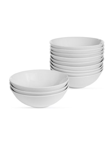 Glucksteinhome Catering Set of 12 Bowls-WHITE-One Size