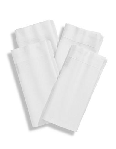 Glucksteinhome Set of 4 Bedford Napkins-WHITE-20x20