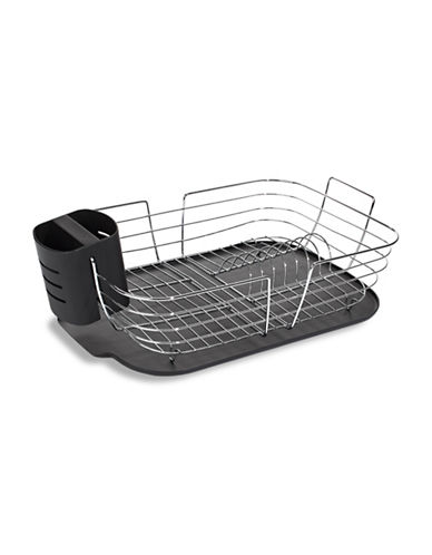 Essential Needs Chrome-Plated Dish Rack-BLACK-One Size