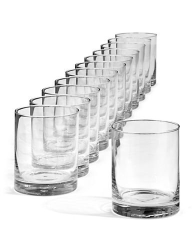Glucksteinhome Catering Set of 12 Double Old Fashioned Glasses-CLEAR-One Size