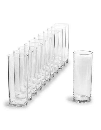 Glucksteinhome Catering Set of 12 Highball Glasses-CLEAR-One Size