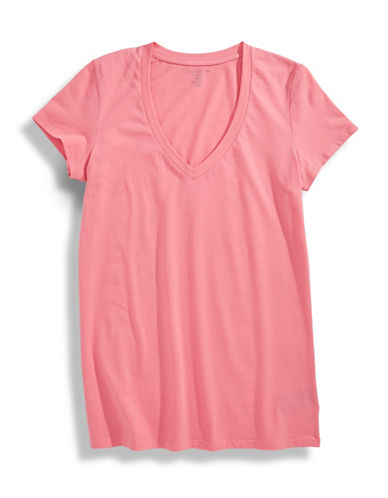 Lord & Taylor Pima Cotton Pyjama Tee-PINK-Large 86653557_PINK_Large