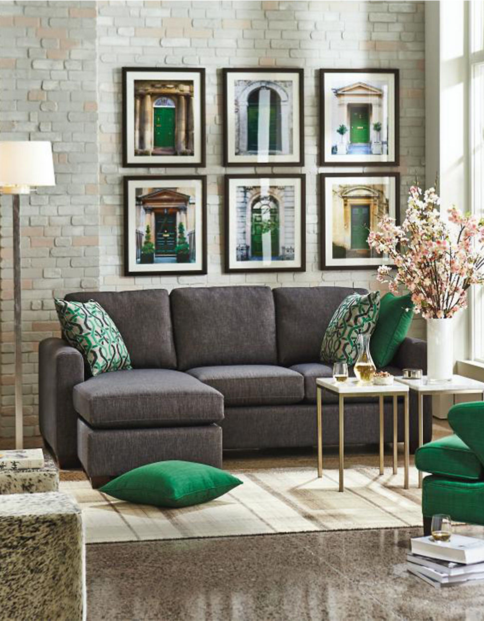 The Bay Living Room Furniture Andrea Sectional Sofa With Chaise Hudsons Bay