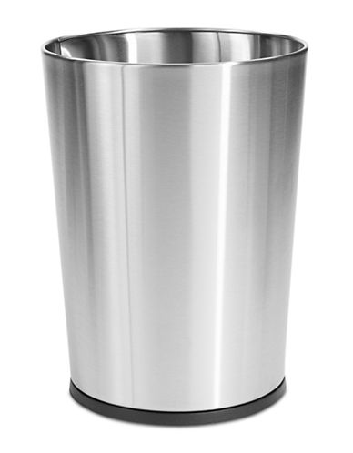Essential Needs Stainless Steel Waste Basket-STAINLESS STEEL-One Size