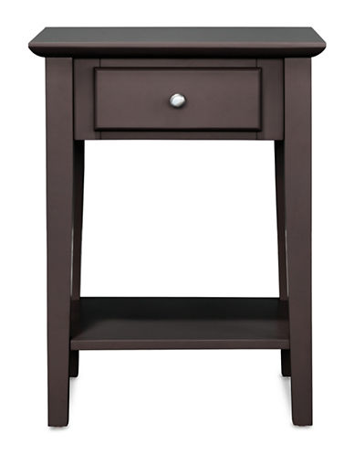 Home Studio Side Table with Drawer-ESPRESSO-One Size