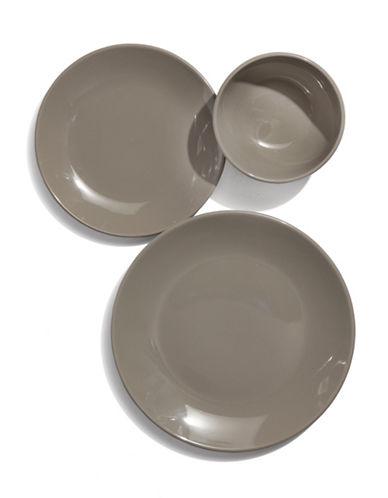 Essential Needs Twelve Piece Dinnerware Set-BEIGE-One Size