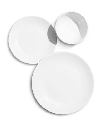 Essential Needs Twelve Piece Dinnerware Set-WHITE-One Size