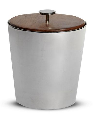 Glucksteinhome Sheesham Wood and Stainless Steel Ice Bucket-MIRROR-One Size
