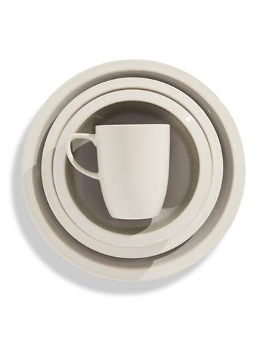 Distinctly Home 16 Piece Cosima Stoneware Dinnerware Set-WHITE-One Size