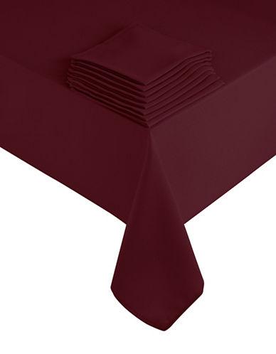 Essential Needs Nine-Piece Table Linen Set-DARK RED-60x84