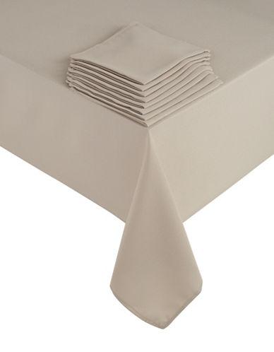 Essential Needs Nine-Piece Table Linen Set-DARK BROWN-60x102