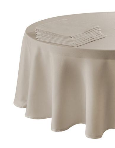 Essential Needs Nine-Piece Round Table Linen Set-BROWN-60x84