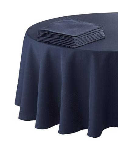 Essential Needs Nine-Piece Round Table Linen Set-BLUE-60x84