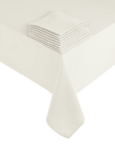 Essential Needs Nine-Piece Table Linen Set-WHITE-60x84