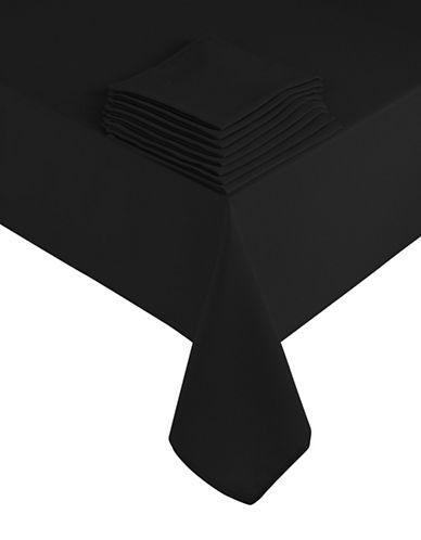 Essential Needs Nine-Piece Table Linen Set-BLACK-60x84