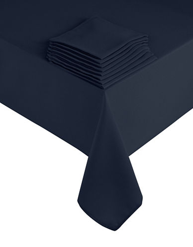Essential Needs Nine-Piece Table Linen Set-BLUE-60x84
